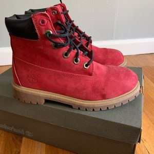 Red Junior's Timberland Boots